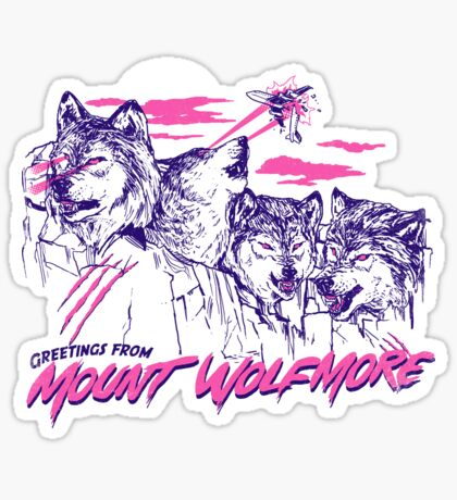 Mount Wolfmore Sticker
