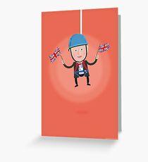 Lets Dress…Boris Johnson Zip Wire Greeting Card