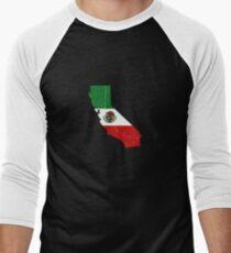 MEXI CALI WEAR - Distressed State Men's Baseball ¾ T-Shirt