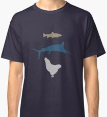 The Marlin, the Trout, and the Chicken Classic T-Shirt