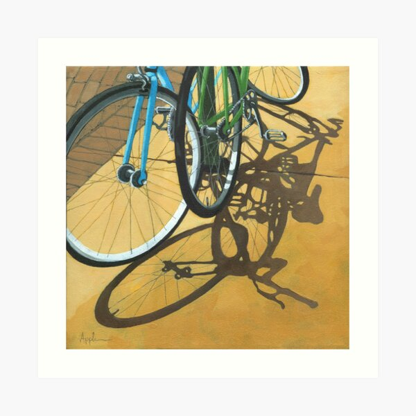Out to Lunch - Bicycle art Art Print