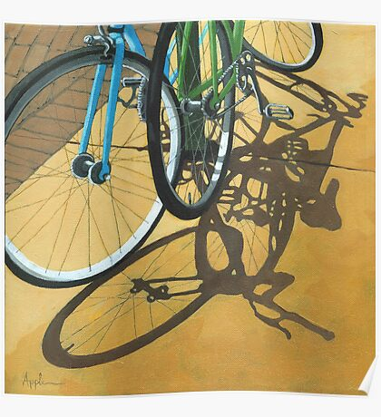 Out to Lunch - Bicycle art Poster