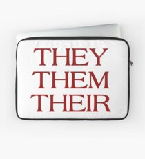 Pronouns - THEY / THEM / THEIR - LGBTQ Trans pronouns tees Laptop Sleeve