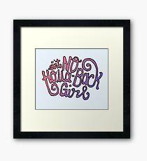 Holla Back Framed Print