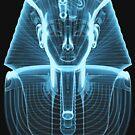 Tutankhamun 'King Tut' X-Ray Style by Steve Crompton
