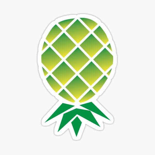 Upside Down Pineapple Swinger themed T-Shirt Sticker