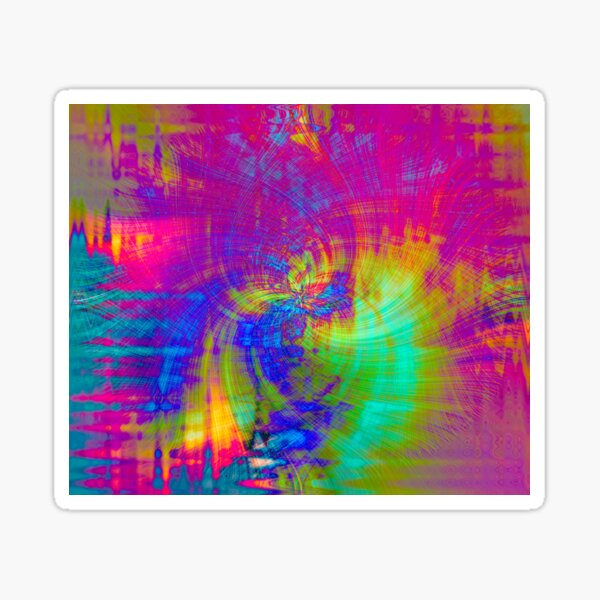 Psychedelic TieDyed Sticker