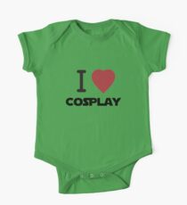 I Heart Cosplay Black Text (Clothing & Stickers) One Piece - Short Sleeve