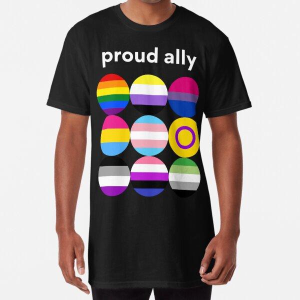 Proud Ally Shirt | Pride Long T-Shirt | Gift Idea | Awareness | Empowerment | Support  Long T-Shirt