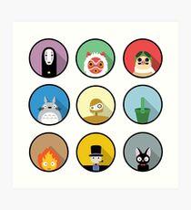 Studio Ghibli icons Art Print