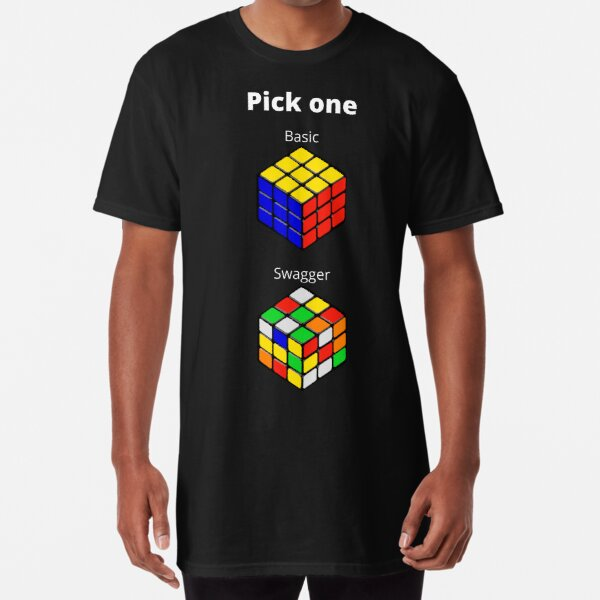 Basic or Swagger Shirt | Long Shirt | Rubix Cube T-Shirt Design | Unisex Sizes  Long T-Shirt