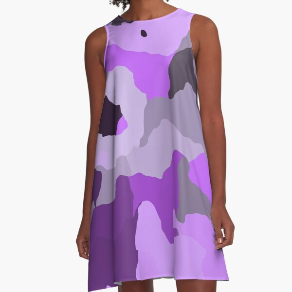Purple Camo A-Line Dress