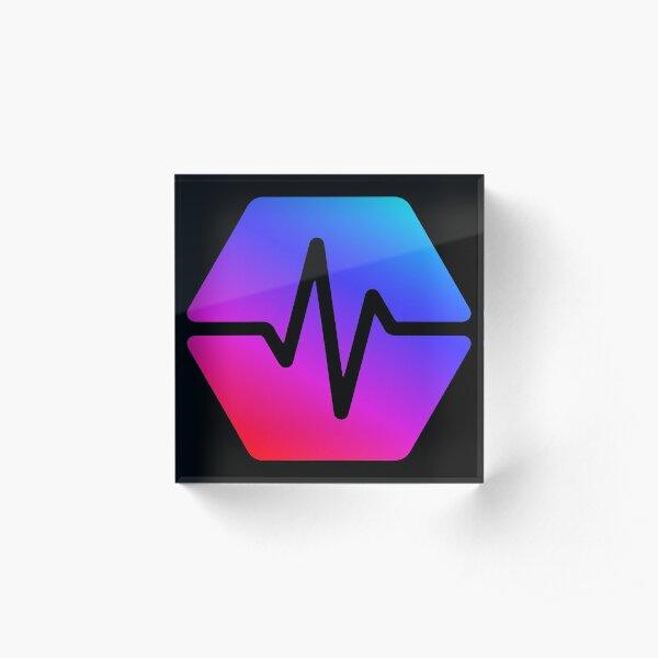 Pulse Chain Logo On Black Version 2 Acrylic Block