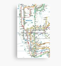 MTA-NYC-Manhattan Subway Line/Map Canvas Print
