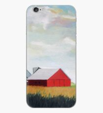 Country Farm Landscape rural Red Barn iPhone Case
