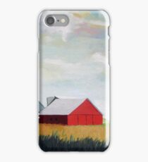 Country Farm Landscape rural Red Barn iPhone Case/Skin