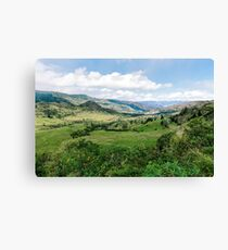 Yunguilla Valley in the Andes Mountains, Ecuador Canvas Print
