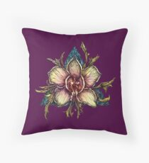 Orchid sun Throw Pillow