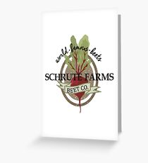 Schrute Farms - The Office Greeting Card
