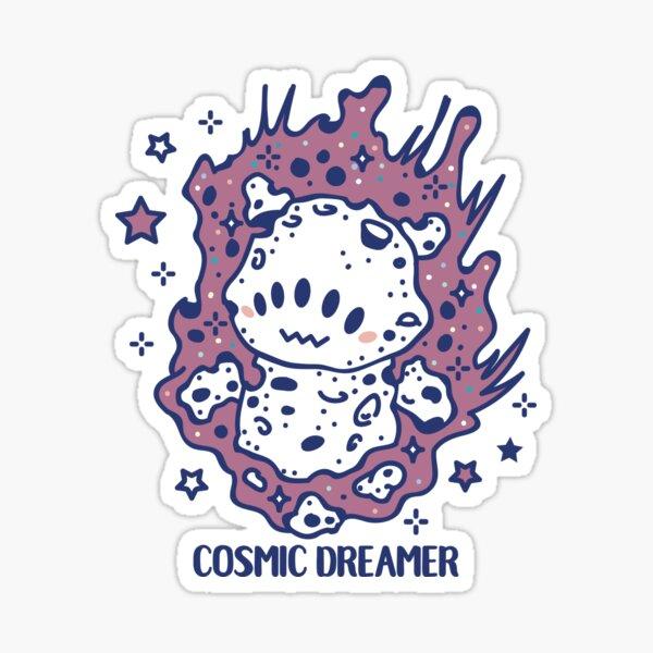 Cosmic dreamer flying like a shooting star Sticker