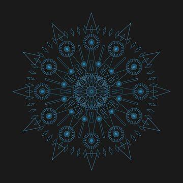 Spiked up Mandala by blikk