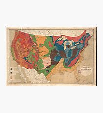 Vintage United States Geological Map (1872) Photographic Print