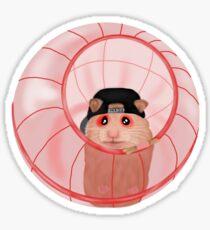 J Hamster Ball Cartoon Sticker