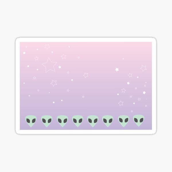 Pastel Alien Sticker
