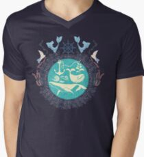The Paradise: Whales world Mens V-Neck T-Shirt