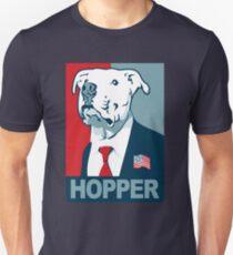 Feel The Hopper (Red White and Hopper) Smaller Print Unisex T-Shirt