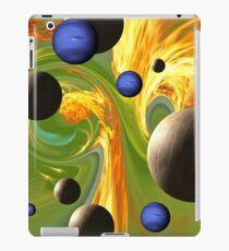 Planets in a Fiery Green Polkadot Sky. VividScene iPad Case/Skin