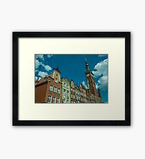 Clock Tower Gdansk  Framed Print