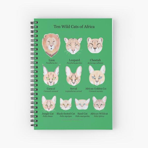 Ten Wild Cats of Africa Chart Spiral Notebook