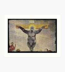 Harambe our Holy father Art Print