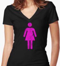Female Women's Fitted V-Neck T-Shirt