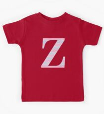 Letter Z Blue And Pink Dots And Dashes Monogram Initial Kids Clothes