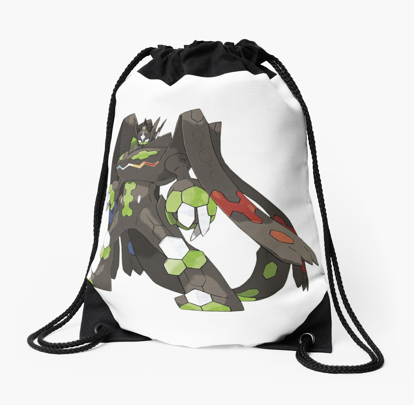 zygarde 100 form drawstring bags by chopping redbubble