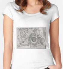 Vintage Map of Vienna Austria (1780) Women's Fitted Scoop T-Shirt