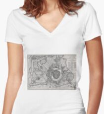 Vintage Map of Vienna Austria (1780) Women's Fitted V-Neck T-Shirt