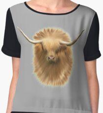 Highland cattle bull Chiffon Top