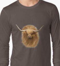 Highland cattle bull Long Sleeve T-Shirt