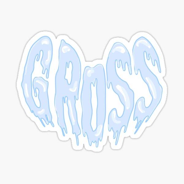 Gross Offensive Text Heart Sticker