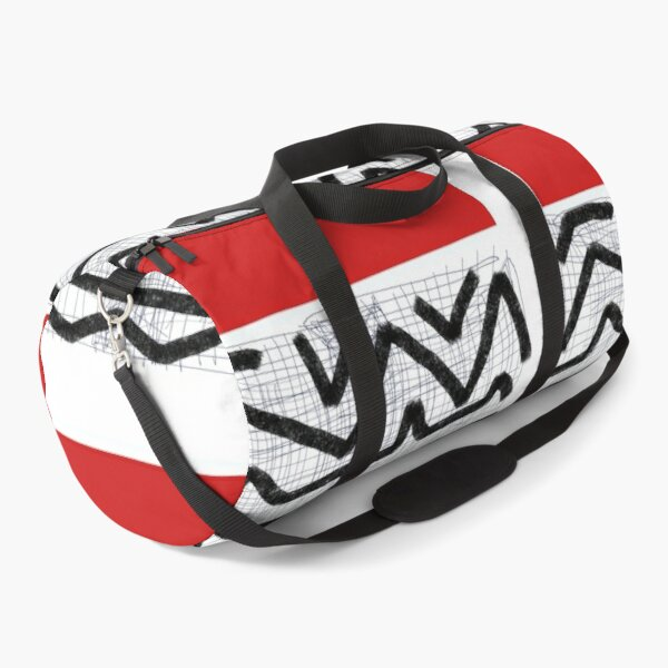 Abstract red Duffle Bag