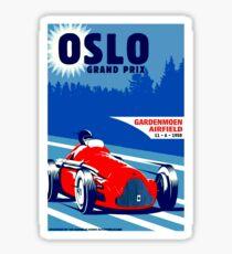 """OSLO GRAND PRIX"" Vintage Auto Race Print Sticker"