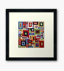 Colored Blocks Framed Print