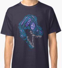 Color Calligram Tyrannosaur Skull Classic T-Shirt