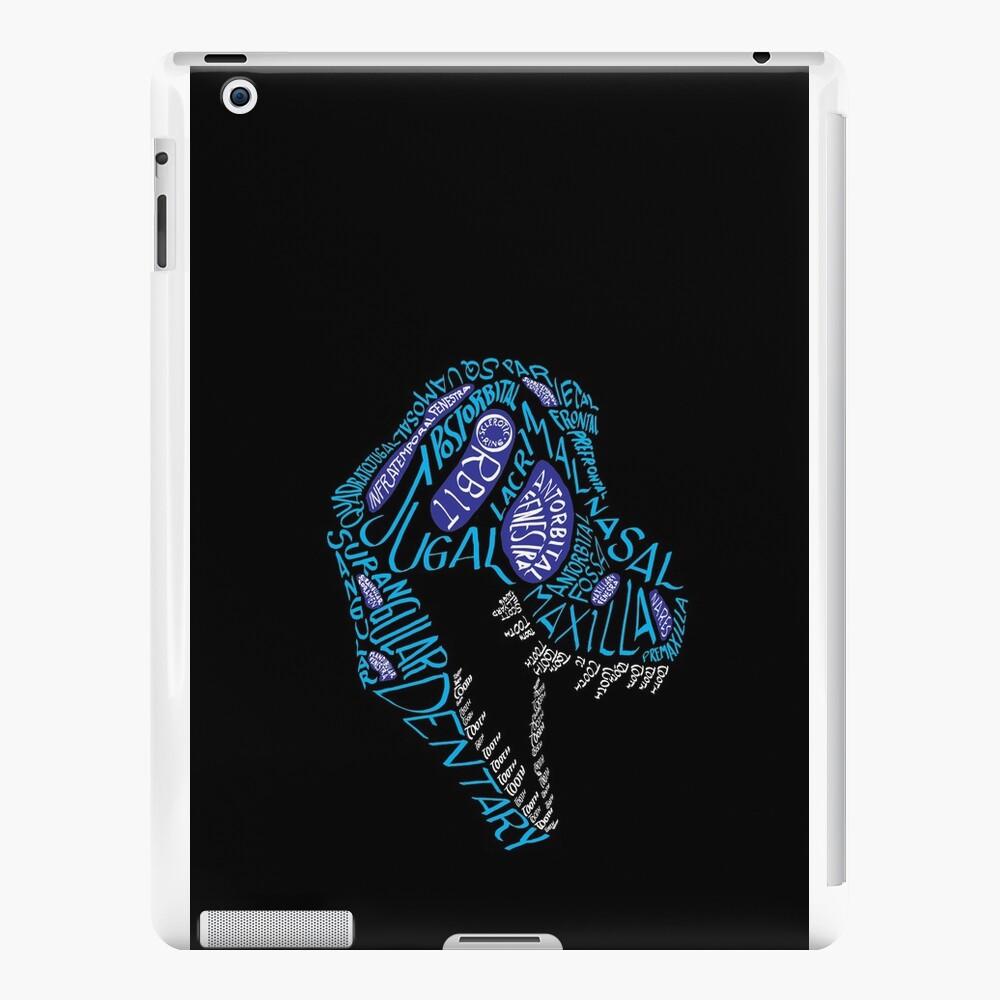 Color Calligram Tyrannosaur Skull iPad Cases & Skins