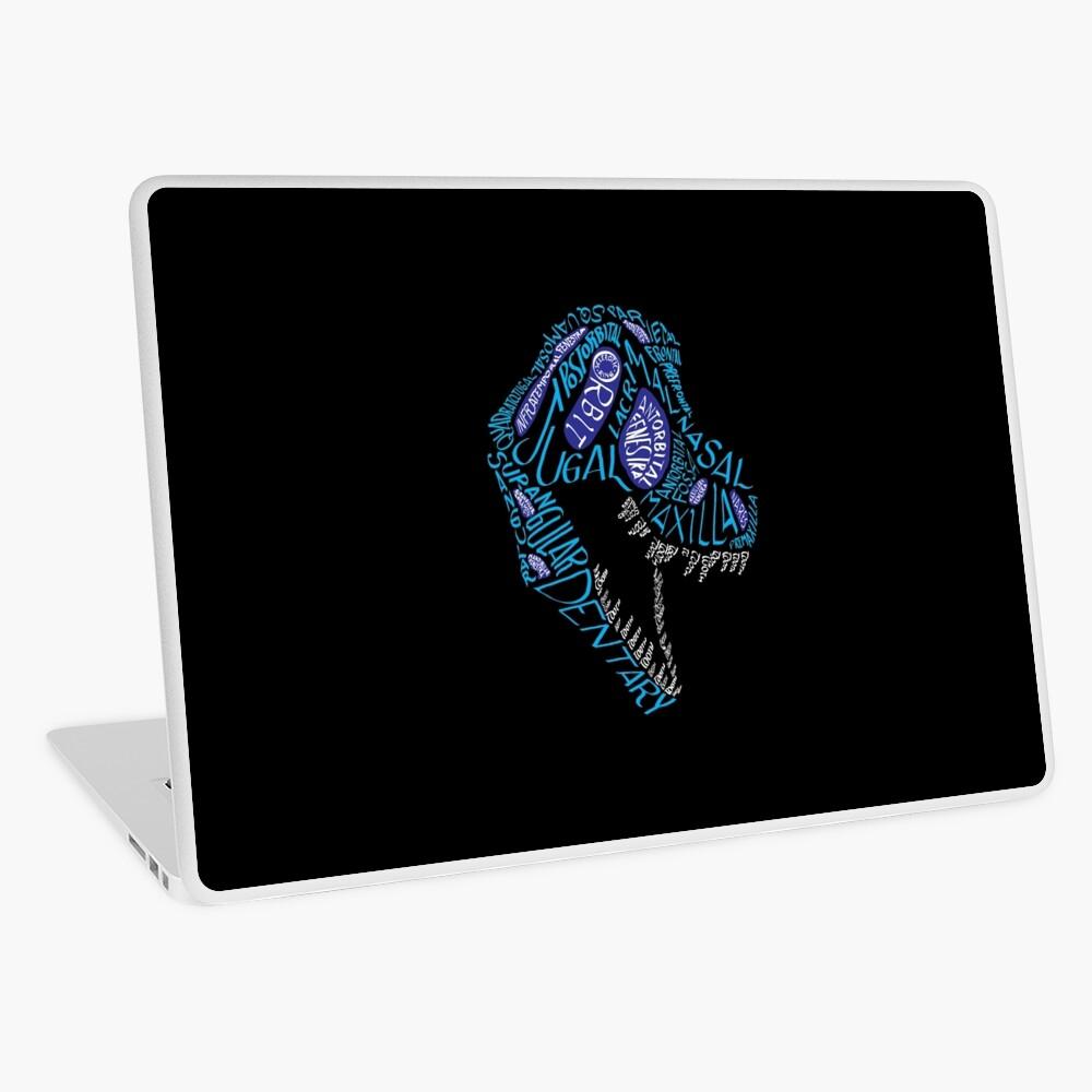 Color Calligram Tyrannosaur Skull Laptop Skin