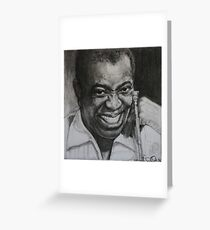 """Louis """"Satchmo"""" Armstrong Greeting Card"""