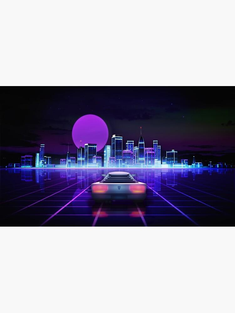 Cyber city, futuristic arcade games concept by Maingraph